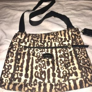 Coach canvas Tote with animal print